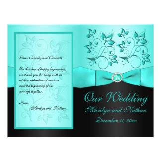 Aqua e programa Wedding do preto II floral