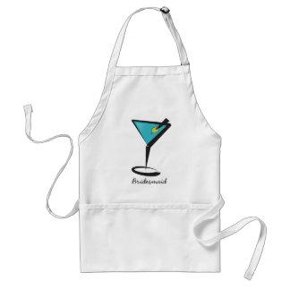 Aqua Martini do divertimento Avental