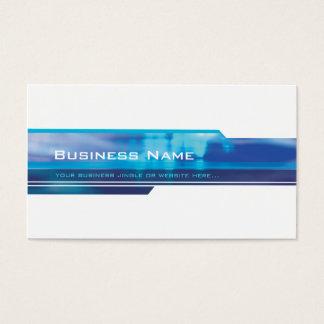 Aqua na moda futurista moderno do marinho do cartão de visitas
