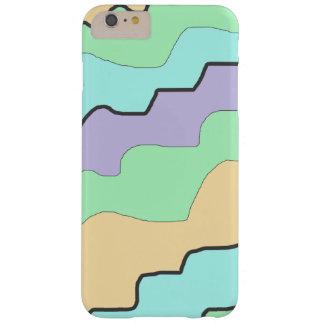 Aqua, roxo e capa de telefone abstrata moderna