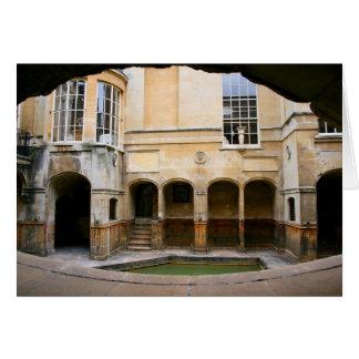 Aquae Sulis - banhos romanos Cartão Comemorativo