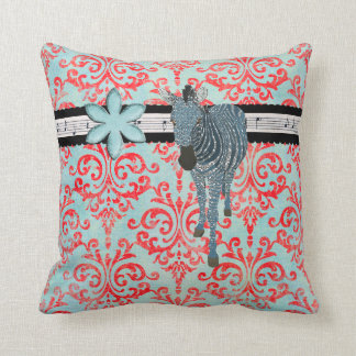 Aquamarine Zeb Damask  Mojo Pillow