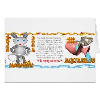 Aquário 1948 2008 do rato da terra do zodíaco de cartão comemorativo