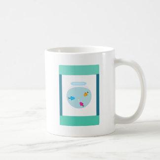aquário caneca de café