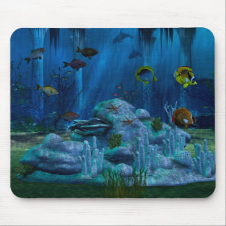 Aquário do mar profundo 3D Digitas Mousepad