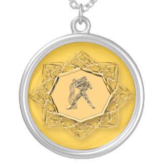 Aquário do zodíaco - personalize-o! colar banhado a prata