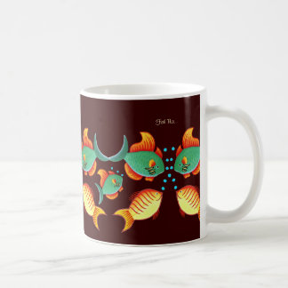 Aquário dos peixes caneca de café