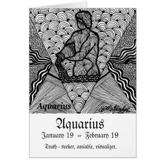 Aquário   (sinal do zodíaco) cartão comemorativo