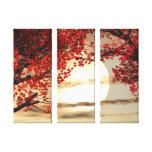 Aquecimento e canvas calmas das árvores impressão de canvas envolvida