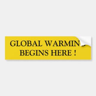 aquecimento global adesivo para carro