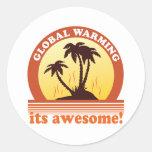 aquecimento global adesivos redondos