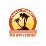 aquecimento global cartão postal