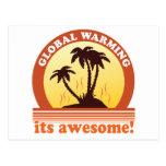 aquecimento global cartao postal