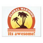 aquecimento global convite personalizado