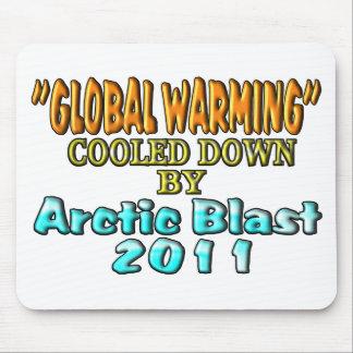 """""""Aquecimento global"""" de refrigeração para baixo pe Mouse Pad"""