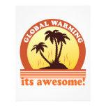 aquecimento global papeis de carta personalizados