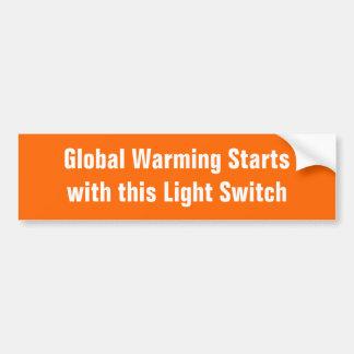 Aquecimento global Startswith este interruptor da  Adesivo Para Carro