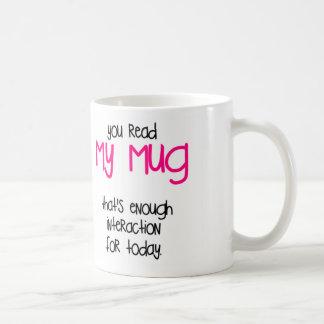 Aquele é bastante caneca de café