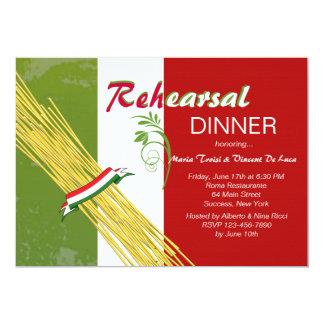 Aquele é convite de festas italiano do jantar de