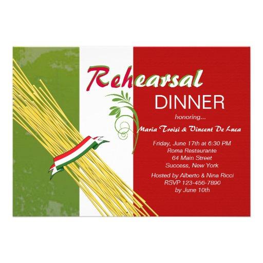 Aquele é convite de festas italiano do jantar de e