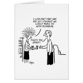 Aquele é o cartão do dia do ano novo do espírito