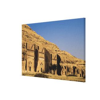 Arábia Saudita, local de Madain Saleh, 2 antigos Impressão Em Tela