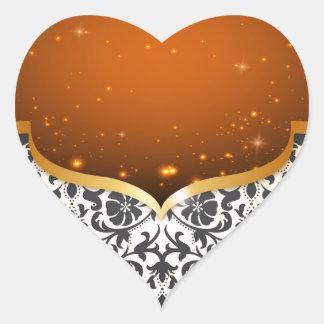 Arabian elegante adesivo coração