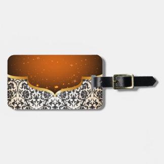 Arabian elegante etiqueta de bagagem