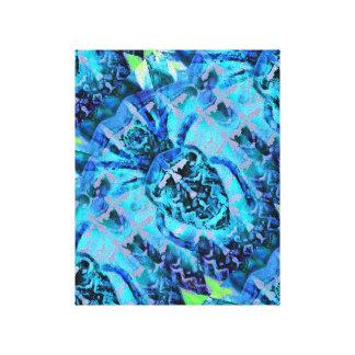 Aracnídeo azul impressão em canvas