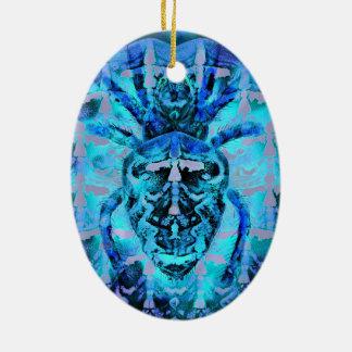Aracnídeo azul ornamento de cerâmica