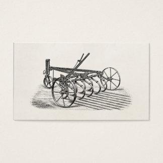 Arado velho da agricultura do equipamento agrícola cartão de visitas