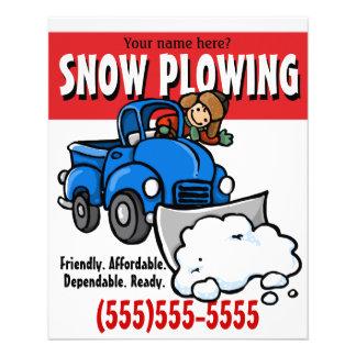 Aradura da neve. Serviço de negócio da remoção de  Panfletos Coloridos
