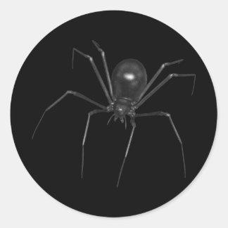 Aranha 3D assustador preta grande Adesivo