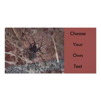 Aranha assustador do Dia das Bruxas Cartão Com Foto