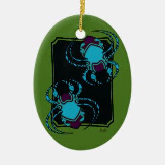 Aranha BleuTattoo Ornamento De Cerâmica