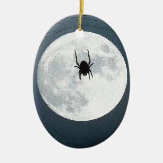 Aranha da lua ornamento de cerâmica