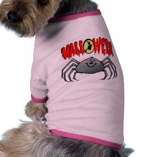 Aranha do Dia das Bruxas Camisa Ringer Para Cachorro