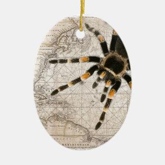 aranha do mapa ornamento de cerâmica