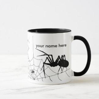 Aranha e caneca da Web - Customize adiciona seu