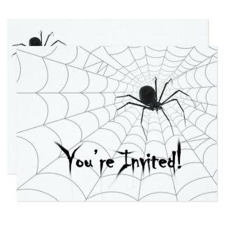 Aranha e convites de festas de Spiderweb o Dia das
