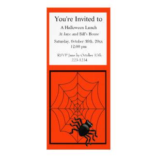 Aranha e Web o Dia das Bruxas 10.16 X 22.86cm Panfleto