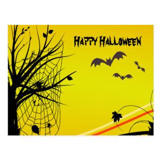 Aranha no cartão do Dia das Bruxas da Web