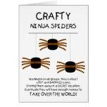 Aranhas de Ninja! Cartoes