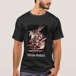 Arauto branco do coelho (texto) camiseta