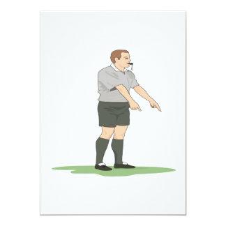 Árbitro do futebol convite 12.7 x 17.78cm