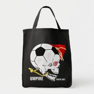 Árbitro do futebol sacola tote de mercado