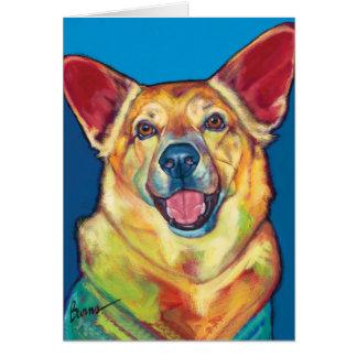 Arborizado o cartão de nota do cão da terapia por