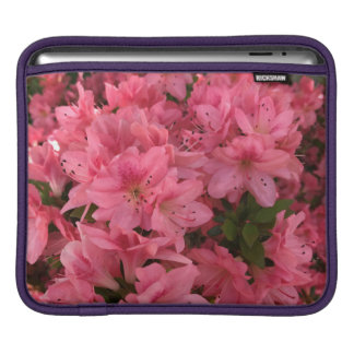 Arbusto de florescência cor-de-rosa brilhante na capa de iPad