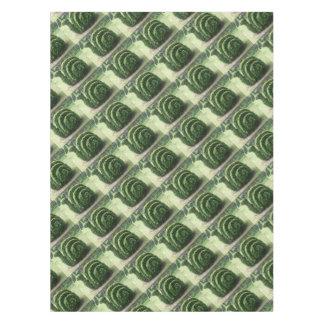 Arbusto decorativo do caracol de jardim do verde toalha de mesa