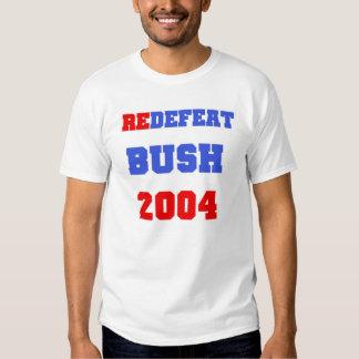 arbusto do redefeat camiseta